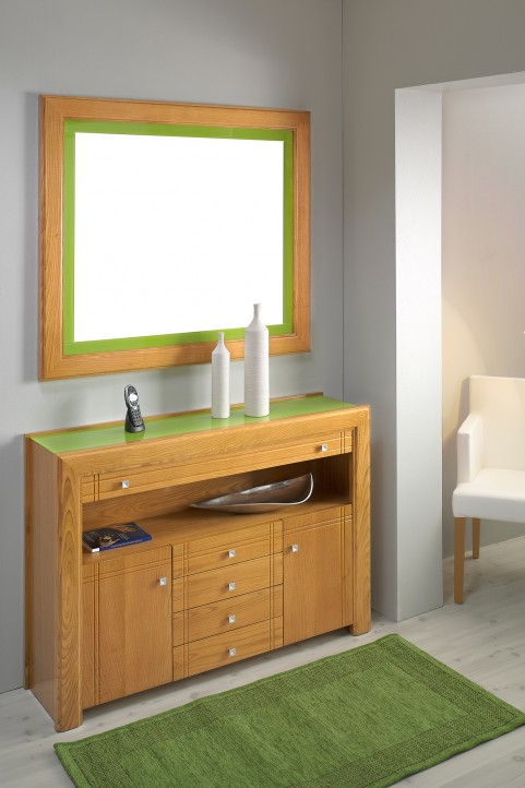 Mueble de entrada con espejo